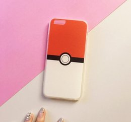 Wholesale Pokemon Iphone - Poke Mon GO Soft TPU Case Clear Crystal Cute Pikachu Ball Shockproof Protector for iPhone 6 6s 6plus Iphone 5S SE DHL Free
