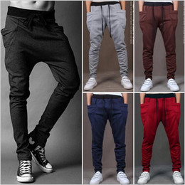 Wholesale Boys Hip Hop Pants - Men Joggers Sports Pants Fashion Sweat Pants Basketball Sport Jogging Pants Baggy harem pants Hip Hop Gym Jogger Dance Slacks for boy