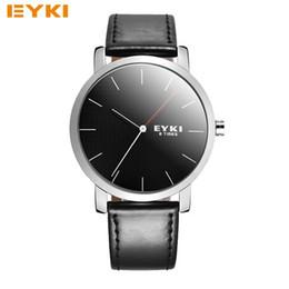 Wholesale Eyki Watch Leather Male - Watches Men Luxury Top Brand EYKI New Fashion Men's Slim Designer Quartz Watch Male Wristwatch relogio masculino relojes