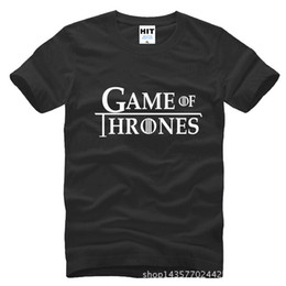 Wholesale Leopard Print Mens Tees - fashion Game of Thrones A Song of Ice and Fire Printed Mens T-shirt fashion 2016 Cotton short sleeve t-shirt Tee Camisetas Masculina
