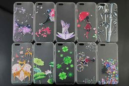 Wholesale Iphone Stickers For Girl - Water Paste Case Wet Sticker Case Shell Girl Styel Case For IPhone 6 6 plus and High Quatity Phone Protect Case with Out Retail Package
