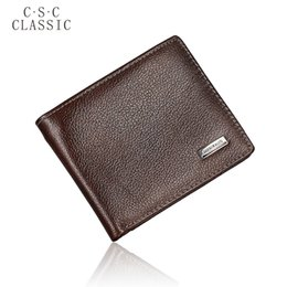 Wholesale Gentleman Photo - Wholesale- CLASSIC 2016 New Brand Mens Gentleman Dark Brown Real Genuine Cowhide Leather Bifold Wallet Small Purse ID Credit Card Holder