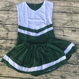 Wholesale Popular Kids Clothing - most popular high quality kids personalized relaxtion clothing soft cotton cheerleading uniforms cheer cute girls skirt