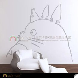 Wholesale stickers pain Vinilos Paredes Cartoon Totoro Wall Sticker x160cm Big Wallpaper For Kids Room Home Decor Poster Diy Children Personalized
