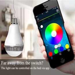 Wholesale E27 Led Iphone - PLAYBULB Smart LED Blub Light Wireless Bluetooth Speakers 110V - 240V E27 3W Lamp Audio for iPhone 5S 5C 5 iPad air Speaker Bluetooth