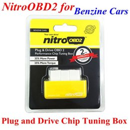 car ecu reader Promo Codes - Top Quality Plug and Drive NitroOBD2 Performance Chip Tuning Box for Benzine Cars ECU Chip Turning Free Shipping