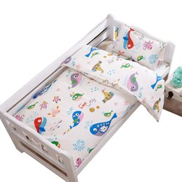 Wholesale Boys Crib Bedding Set - Baby Crib Bedding Set Cotton Baby Bedding Set Reactive Printing Cartoon Duvet Cover Mattress Cover Pillowcase for Boy Girl Kid VT0774