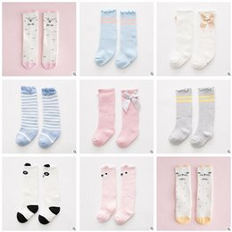 Wholesale Long Infant Socks - Thick Terry Newborn Knee High Socks Baby Boy Girl Ruffle Sock FALL Winter Warm Cotton Sock Infant Toddler Long Sock Leg Warmers