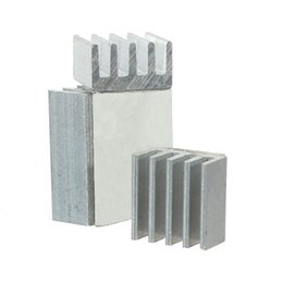 Wholesale voltage regulator kit - Wholesale- 3Pcs Heat Sink for Voltage Regulator Cooling Radiator Aluminum Heatsink Chip CPU GPU VGA RAM IC Cooler Kit for Raspberry