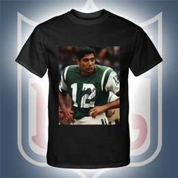 Wholesale Personalize Clothing - American National Football JOE NAMATH Jersey Sports T shirts Sportswear Rugby Fans Clothing Personalized Tops Tees Unisex Cotton