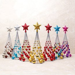 Wholesale Plastic Ornament Balls - Christmas Tree Decor Upscale Mall Layout Iron Ornament Plated Ball Tower Model Delicate Crafts Top Quality 18 1yh F R