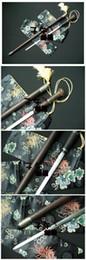 Wholesale Gift Sword - Top Handmade Walking Cane Stick Sword High Carbon Steel Blade Rosewood Sheath