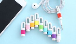 Wholesale Links Data - USB Cable Data Line Earphone Line Protector Cover Saver Liberator For iPhone Android Links Headphone Cord
