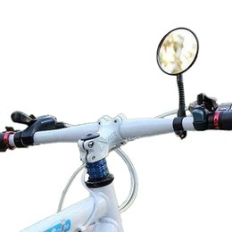Wholesale Bike Rear Reflector - Bicycle Rearview Mirror Bicycle Accessories 1pcs Rear Safety Mirror Bicycle Parts Reflector Flat Cycling Handlebar Rearview Mirror 2505022