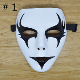 Wholesale Ghosts Mask For Sale - Hottest Sale Teenagers Halloween Party Masks School Masquerade Mask Hand Painted Hip-Hop Masks Ghost Decoration DHL Free Shipping