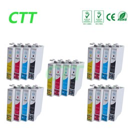 Wholesale Ink Cartridge For Epson S22 - CTT 20 T1281 T1282 T1283 T1284 8BK Ink Cartridges Compatible for Epson Stylus S22 SX125 SX130 SX230 SX235W SX420W SX425W SX430 SX438 SX438W