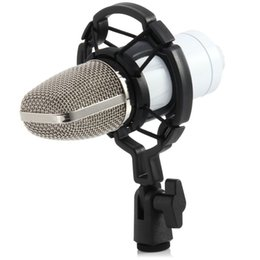 Wholesale Ktv Computer Microphone - Top quality Professional BM700 Microphone Audio Processing Stereo Condenser Microphone with Holder Clip for KTV Chatting Singing Karaoke