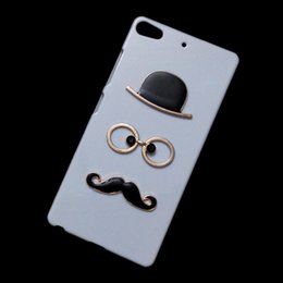 Wholesale Mustache Case Cover - Fashion Cute Chaplin Sexy Gentleman Hat Glasses Mustache Beard Designed Back Hard Cover, Funny Unique Protective Case for Gionee Elife S7