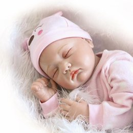 "Wholesale Rooting Doll - Wholesale- NPKCOLLECTION Hair Rooted Realistic Reborn Baby Dolls Soft Silicone 22""  55cm Lifelike Newborn Doll Girl XMAS Gift"