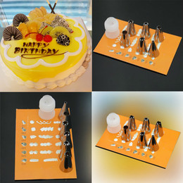 Wholesale Cake Mouth Nozzle - Free Shipping 6PCS Flower Mouth Icing Nozzles with Converter Cake Cookie Decorating Tool Wholesale Retail E5M1