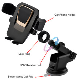 Wholesale Universal Cup Holder Phone - New Easy One Touch Car Mount Universal Phone Desk Windshield Cup sucker Holder for iPhone X 8 7 Plus Galaxy S8 Note 8