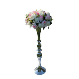 Wholesale Metal Flower Stands Wholesale - New arrival 3 Color 73cm height metal candle holder candle stand wedding centerpiece event road lead flower rack 10 pcs  lot