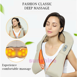 Wholesale Knead Massager - HOT! Multifunction Infrared Heating Body Health Care Equipment Car Home Acupuncture Kneading Neck Shoulder Cellulite Massager