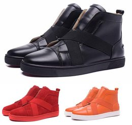 Wholesale British Sneakers - China Men Shoe Red Bottom Sneakers Mens Designer Loafers Flats British Comfortable Luxury Brand leather Trainers Leisure Diamonds Casual Sho