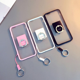 Wholesale Designer Case For Cell - Designer TPU Cell Phone Cases Metal Ring Cell Phone Stand with Multi Colors for for Iphone 7 7p 6S 5S 02