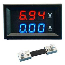 Wholesale Digital Dc Lcd Ammeter Panel - Dual LED DC Digital Display Ammeter Voltmeter LCD Panel Amp Volt 100A 100V B00328