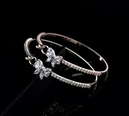 Wholesale Cubic Zirconia Tennis Bracelet Wholesale - Fashion jewelry for woman Plating of gold low price wholesale fashion bracelets High-grade zircon bows bracelets popular bangle
