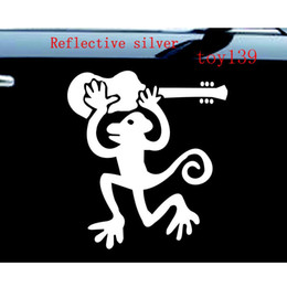 Wholesale Urban Head - KEITH URBAN Monkey Car Vinyl Decal Sticker   Car Truck Laptop Boat Decal Vinyl Sticker decal   reflective silver