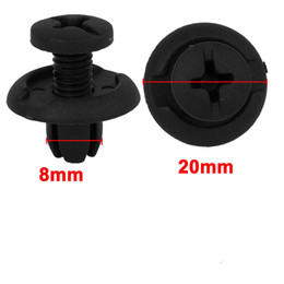 Wholesale Plastic Panel Fasteners - New 50   100pcs Car Fastener 8mm Hole Black Plastic Rivet Retainer Clips for Splash Guard Panel Hood Fender Bumper for Honda Universal