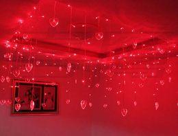 Wholesale 16 Led Flash - 3.5m 96 LED String Fairy Lights Wedding Christmas Lights 16 Hearts Cortina De LED Curtain Party Decoration Lamp luzes para festa