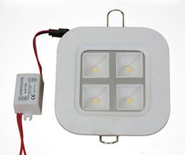 Wholesale Off Grid Light - 4W AC110V-240V Dimmable led Panel Light Square LED Ceiling Wall Light Recessed Down light Cold white & White & Warm white grid lamp
