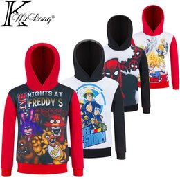 Wholesale Night Shirt Men - Kids Naruto Shirt Children Star War T-shirt 4-12 yrs Boy Fnaf Five Night At Freddy Clothing Cartoon Deadpool clothes for Polyester