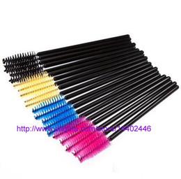 Wholesale Pink Cock - Disposable Eyelash Brush Mascara Wands Applicator Curls eyelash cock eyelash (15000pcs lot) + Free DHL Or FEDEX shipping