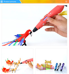 Wholesale 3d Abs - Free Shipping 3D Printer Pen 3D Drawing Pen v3 With OLED Screen ABS PLA