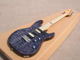 Wholesale Quilt Maple Guitar - OEM Guitar New Arrival ST electric guitar quilt flame body top, flame maple neck and fingerboard, customised guitar!