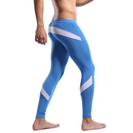Wholesale Mens Print Underwear - Wholesale-Mens Pyjama Thin Male Soft Modal Thermallong johns Long Underwear ffor Winter M L XL