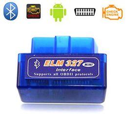 Wholesale Elm Bluetooth Mini - ELM327 OBD2 Bluetooth Diagnostic scanner for car automotivo escaner automotriz Mini V2.1 ELM327 OBD2 ELM 327 Interface Auto Car Scanner