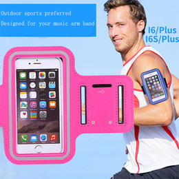 Wholesale Wholesale Baseball Armbands - For Iphone 6s 7 plus Waterproof Sports Running Case Reflective Armband bag Work out Holder Pounch Cell Mobile Phone Arm Band Anti-sweat DHL