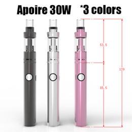 Wholesale Apollo Cigarette - Apoire Apollo Full Kit 30W Huge Vapor E Cigarette kits Apollo Sub Battery 900mah With 2.5ml Apoire Tank Vs Subvod Mega