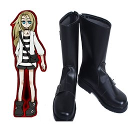 Женская обувь онлайн-Исключительная роль игры аниме Ангел смерти Рейчел'Gardner Рей косплей обувь Хэллоуин аксессуары сапоги подгоняет handmade