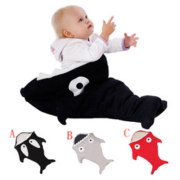 Wholesale Shark Baby Bag - Shark Sleeping Bag Newborns Sleeping Bag Winter Strollers Bed Swaddle Blanket Wrap Cute Bedding baby Sleeping Bag BaBy Sleepsacks Cartoon