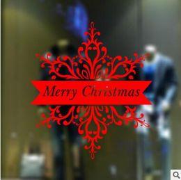 Wholesale Xmas Window Stickers - Merry Christmas Wall Stickers Decoration Santa Claus Gifts Tree Window Wall Stickers Removable Vinyl Wall Decals Xmas Decor