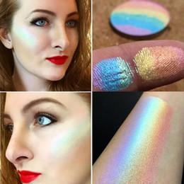 Радужный ярлык онлайн-Prism Rainbow Highlighter by Bitter.Кружево.Красота косметическое лицо макияж глаз бронзатор косметические румяна мерцание Multi-effec бесплатная доставка