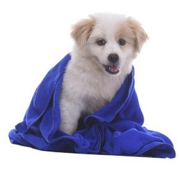 Wholesale Microfiber Cleaning Cloth Blue - 40*60cm Pet Supplies Microfiber Dog Towel Drying Towels Fashion Pet Bath Towels Hypoallergenic Chemical Free Cleaning Cloth CCA6958 100pcs