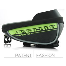 "Wholesale Top Handlebar Bicycle Bags - Basecamp bike Cycling bag bicycle Front top Frame Handlebar Bag Touchable Cycling Bag Under 5.5 ""Mobile Phone"
