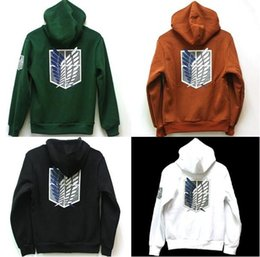 Wholesale Black Cosplay Cloak - Hot Sale New Attack on Titan Shingeki no Kyojin Scouting Legion Hoodie Cosplay Cloak Hoodies & Sweatshirts